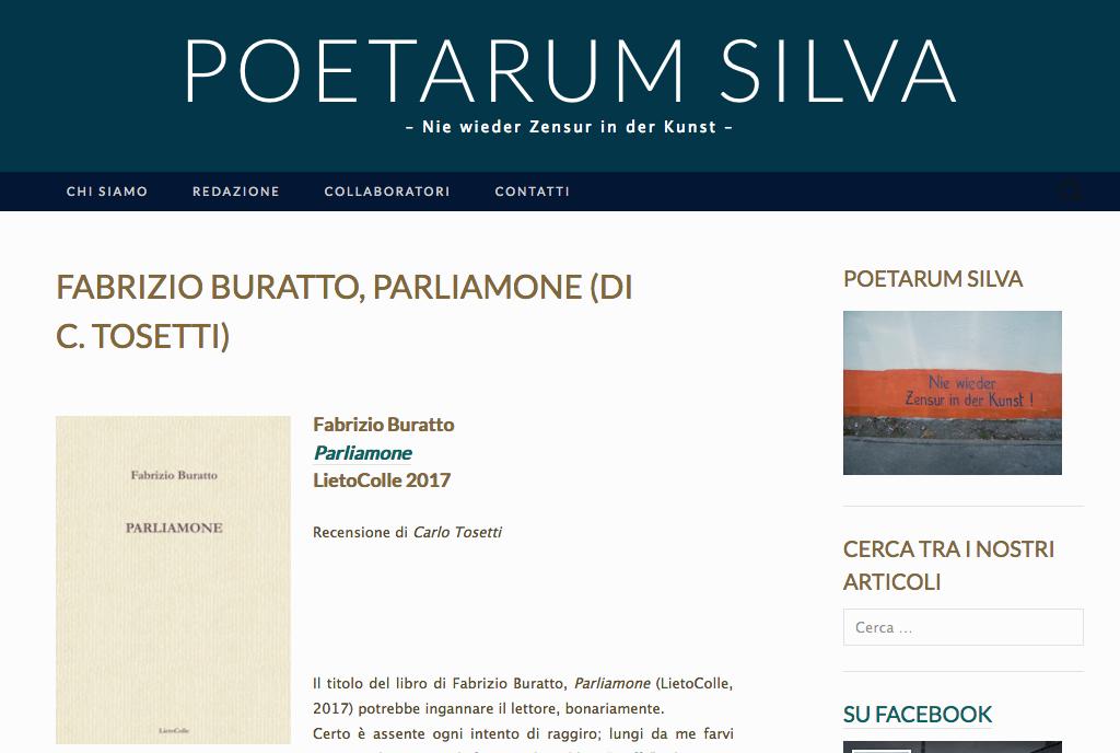 "Recensione di ""Parliamone"" su ""Poetarum silva"""